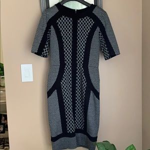 BCBGMAXAZRIA Knit Sleeve Dress Sz Small